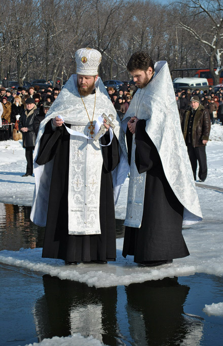 Верующие Красноармейска и пос. Шевченко отметили праздник Крещения