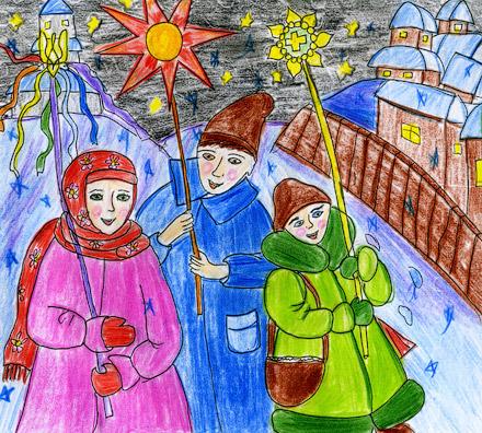 Рисунок Евгении Сощенко, 15 лет (студия «Графика» ЦТД)