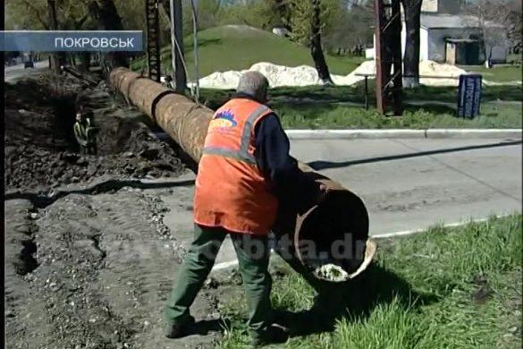 В поселке Динзавода проводят массовую замену водовода