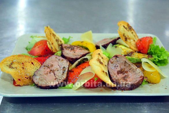 Готовим салат с молодой говядиной